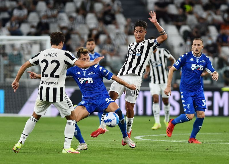 Soccer-Juve start life without Ronaldo with shock loss to Empoli