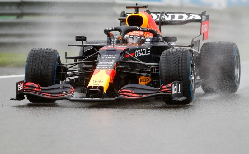 Motor racing-Verstappen wins Formula One's shortest race