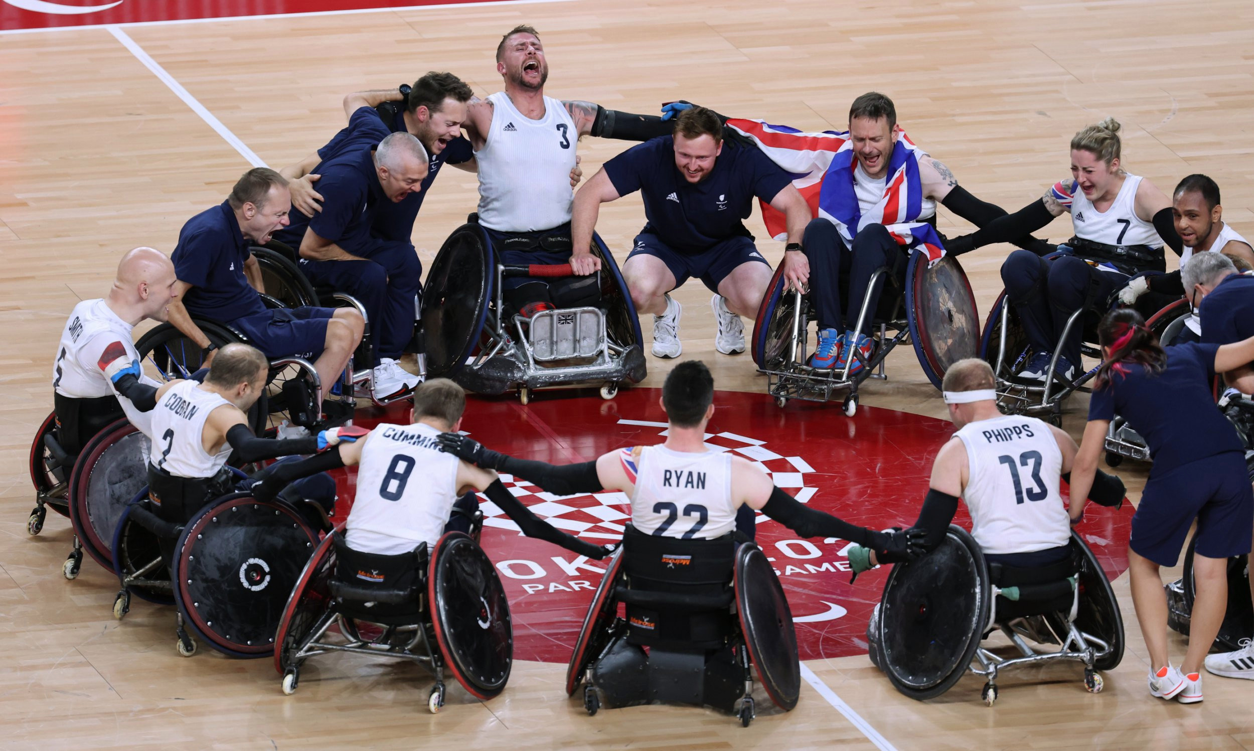 Team GB win historic gold medal in wheelchair rugby at the Paralympic Games