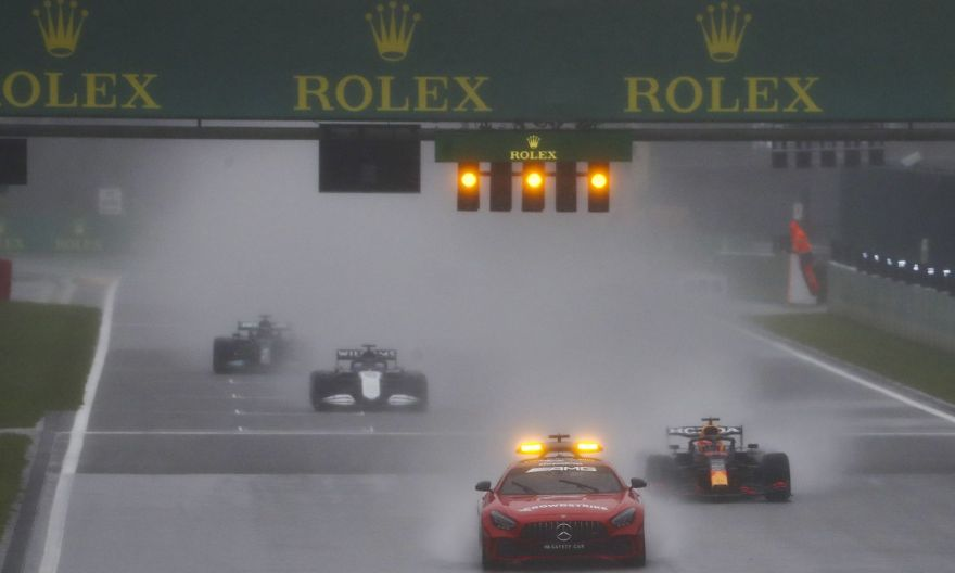 Motor racing: Max Verstappen wins in Belgium in pouring rain without racing a single lap