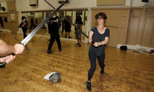 Emma Beddington tries … sword-fighting: 'I have the upper body strength of cooked spaghetti'