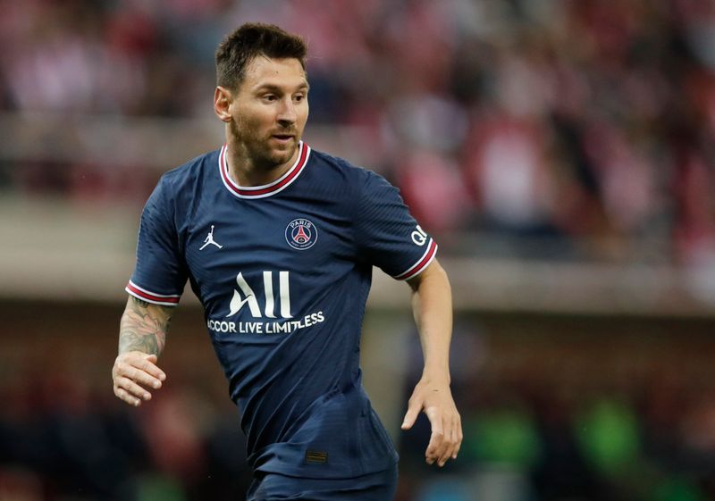 Soccer-Messi makes Ligue 1 debut as Mbappe shines for PSG