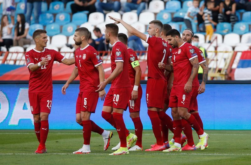 Soccer-Serbia go top as Mitrovic double helps sink Luxembourg