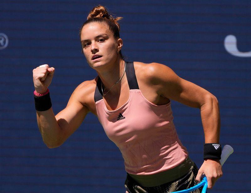 Tennis-Sakkari powers through Kvitova to reach U.S. Open fourth round