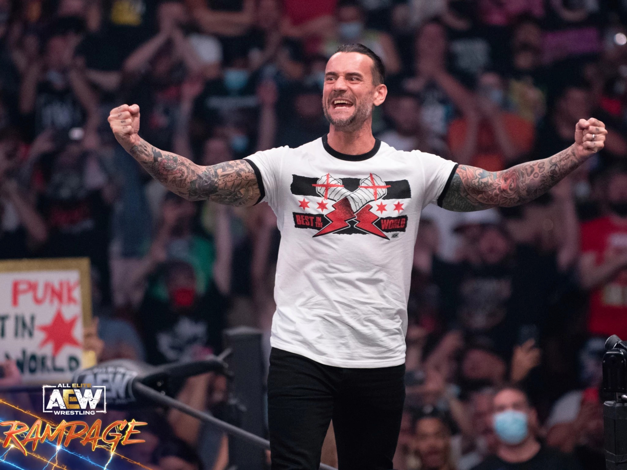 Straight edge star CM Punk hilariously reacts to AEW fan offering him a beer on Rampage