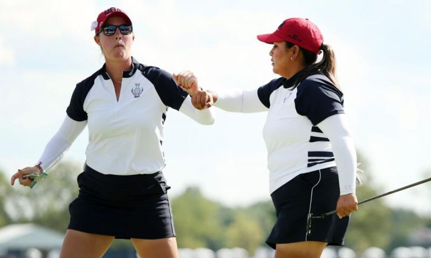 Golf: Americans storm back into contention at Solheim Cup