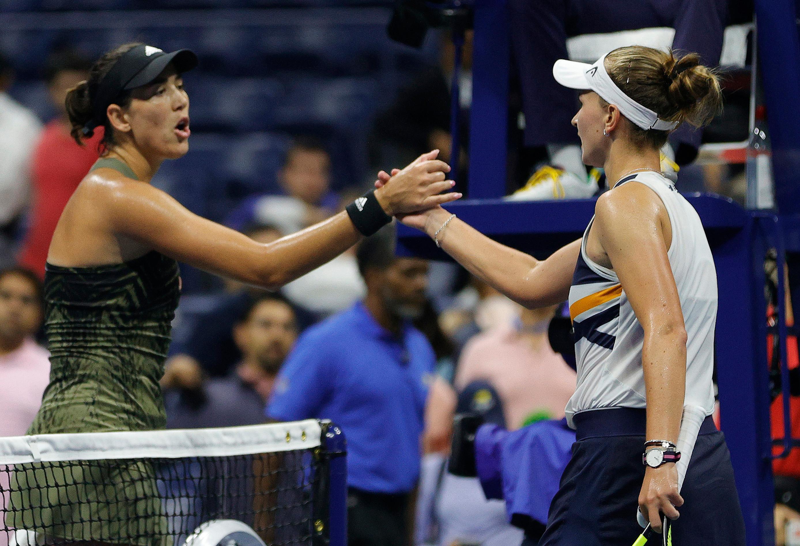 Garbine Muguruza angered by 'unprofessional' Barbora Krejcikova in US Open defeat