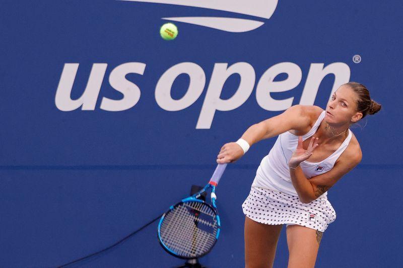 Tennis-Pliskova advances to U.S. Open quarters, her fourth