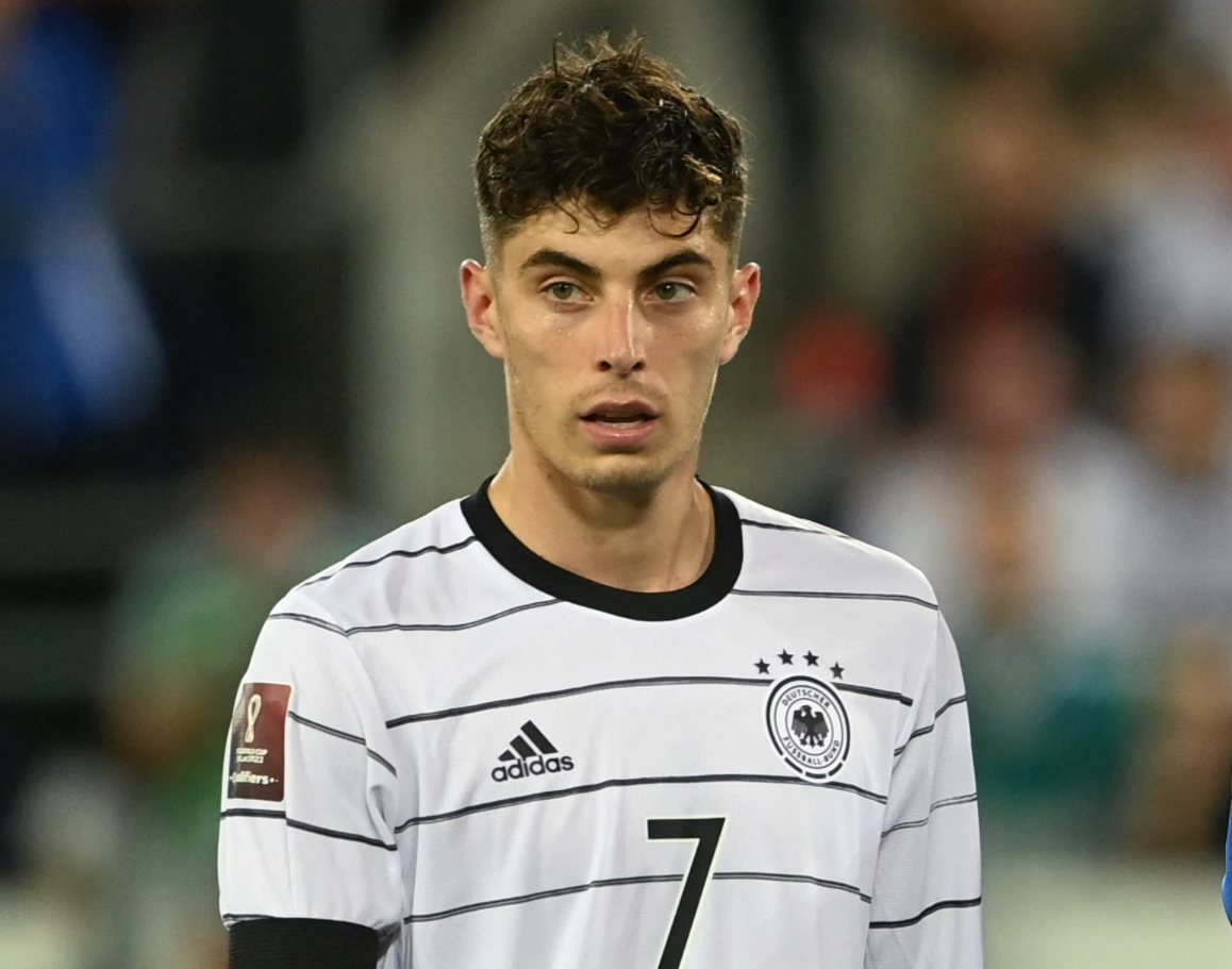 Chelsea star Kai Havertz pictured back in Germany training after illness