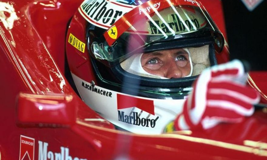 Michael Schumacher's wife says Formula One great 'different, but here'