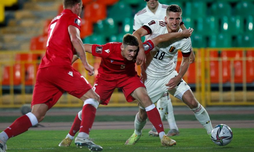 Football: Praet scores for Belgium in a narrow World Cup qualifier win over Belarus