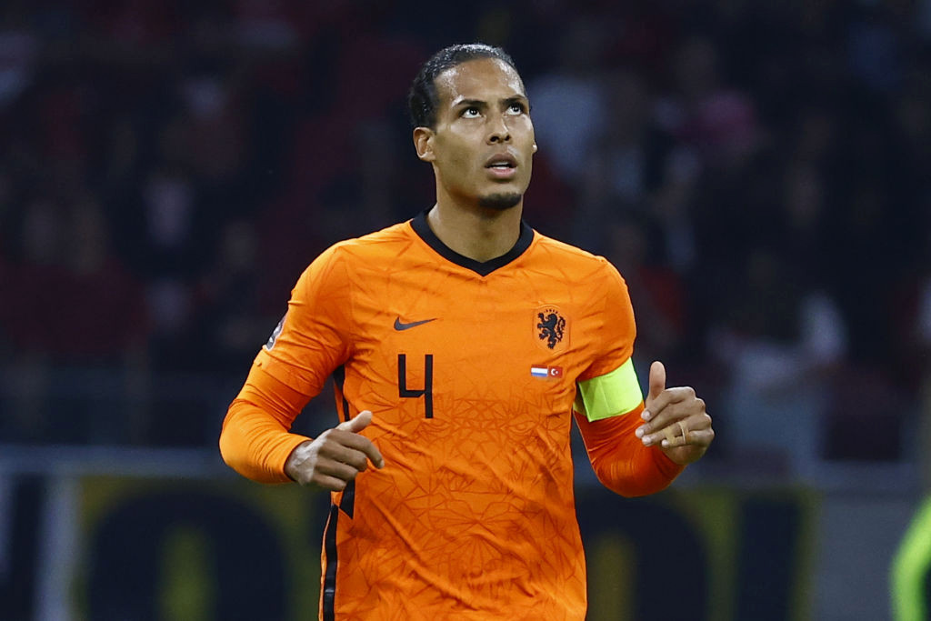 Virgil van Dijk reacts to injury scare after knock in Netherlands win over Turkey
