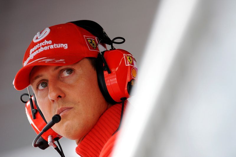 Motor racing-Schumacher's wife says F1 great 'different, but here'