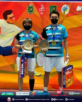 Two M'sian pairs bag third European titles in Ukraine