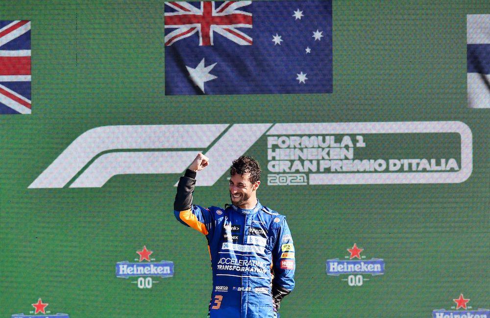 Ricciardo wins at Monza in McLaren one-two finish
