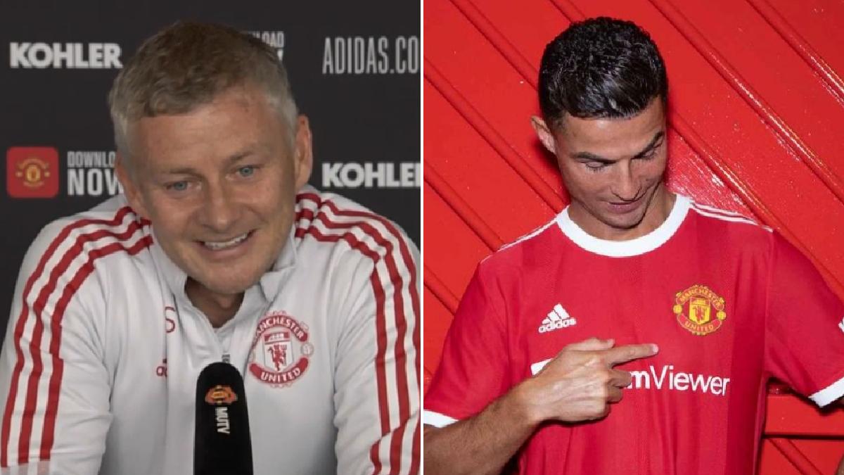 Manchester United manager Ole Gunnar Solskjaer taunts Manchester City over Cristiano Ronaldo transfer