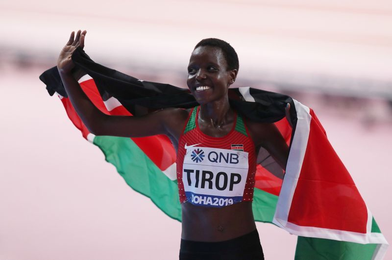 Athletics-Tirop and Teferi smash 10km and 5km world records