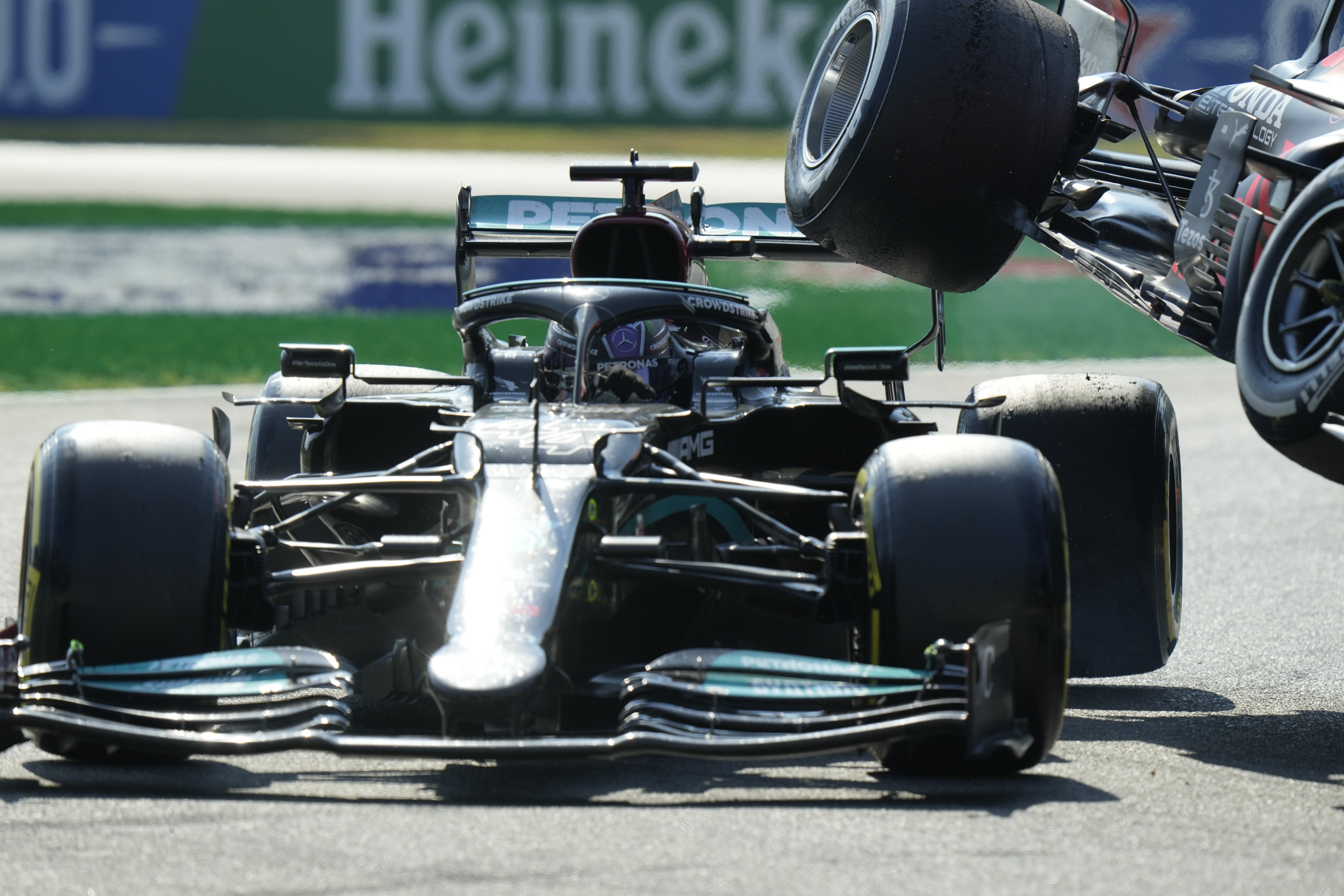 Lewis Hamilton Escapes Tragedy As Title Rival Max Verstappen's Car Lands Near Head