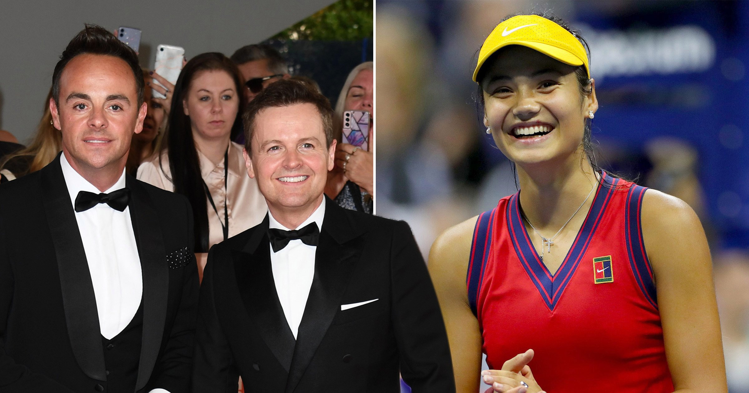 Ant and Dec lead stars cheering on Emma Raducanu as tennis star heads for US Open final