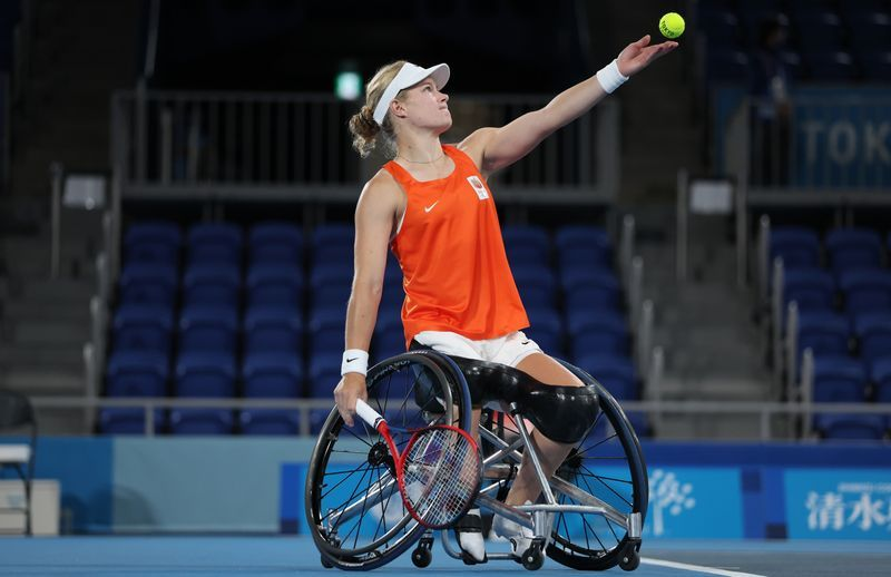 Tennis-De Groot claims first wheelchair golden slam with win at U.S. Open