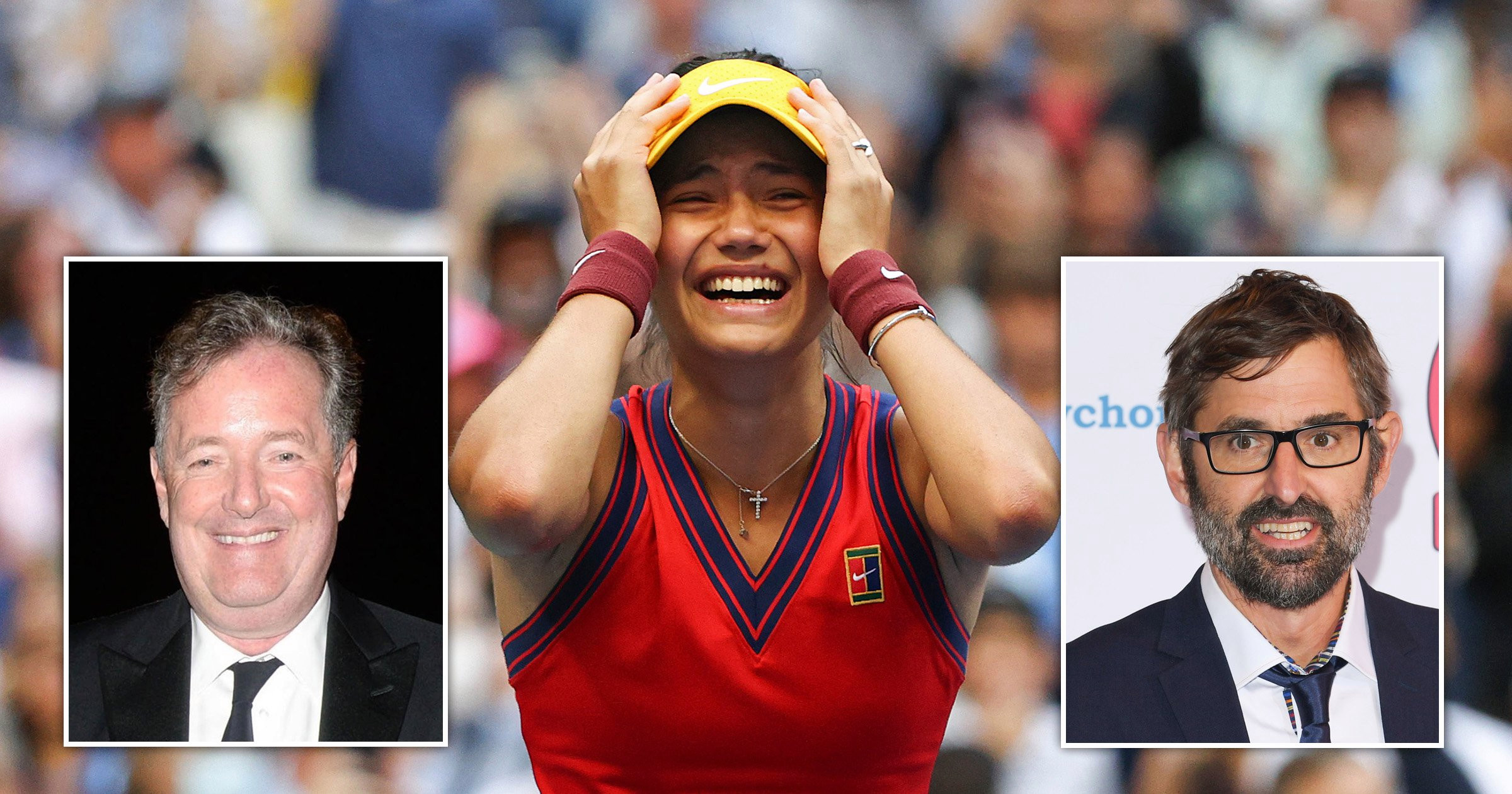 Piers Morgan and Louis Theroux lead celebrations as Emma Raducanu wins US open: 'Pure class'