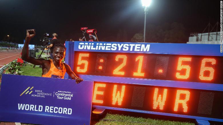 Burundi's Francine Niyonsaba, who has an intersex condition, breaks world record