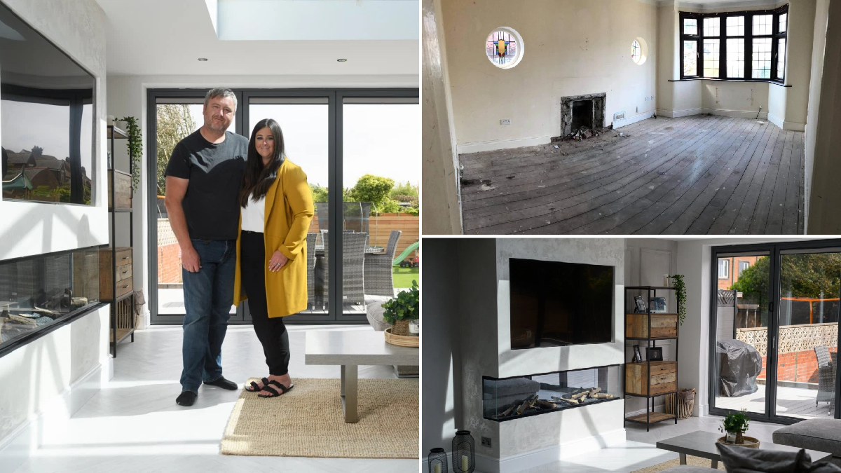 Couple renovate 'near-derelict' 1930s house after winning £1million on a scratchcard